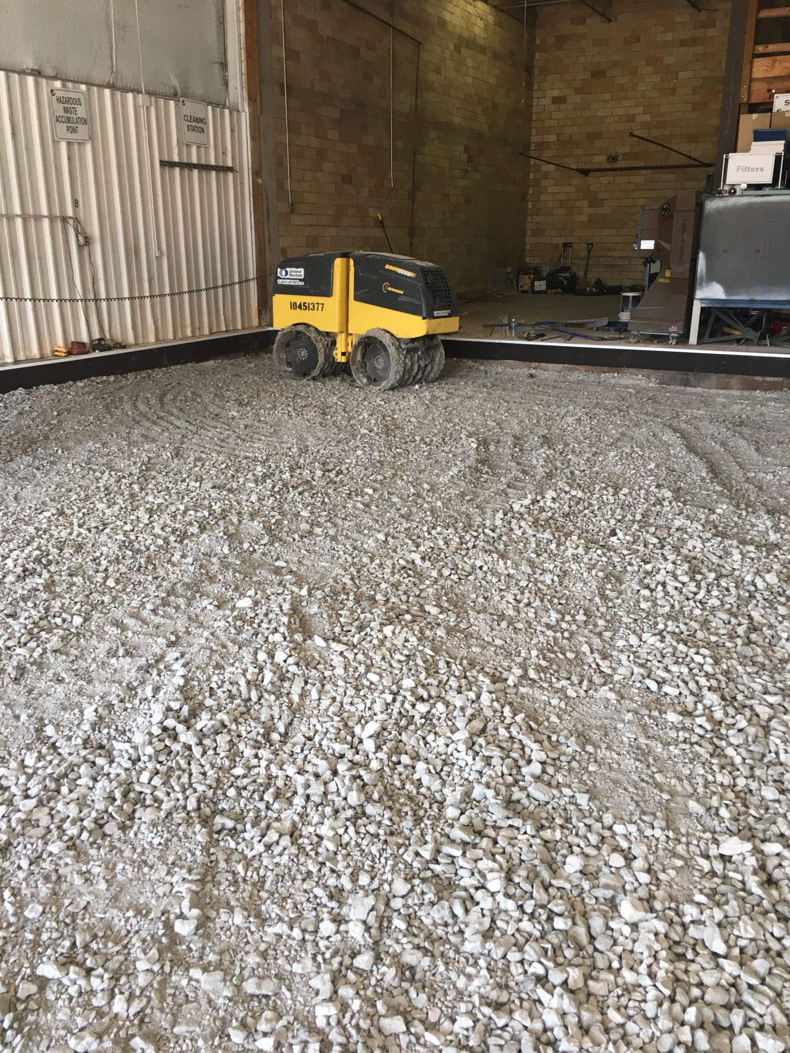 Concrete Backfill Compacting