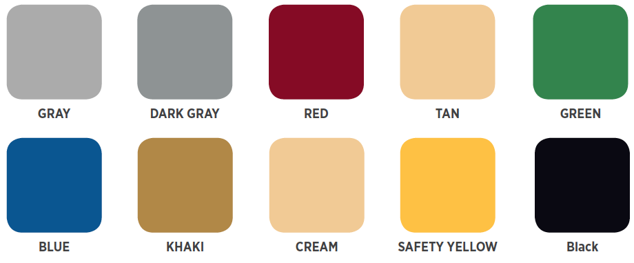 Cover-Clad Urethane Colors